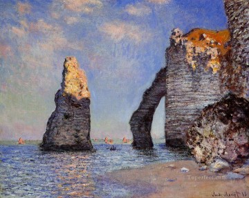 Claude Monet Painting - The Rock Needle and the Porte d Aval Claude Monet